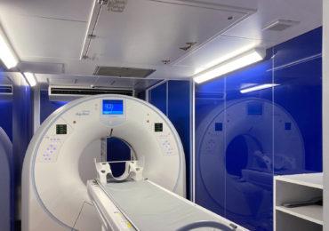 80列CTを搭載した感染症対策医療コンテナMC-Cube